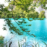 Turquoise lake Stock Images