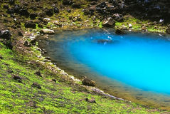 Turquoise lake Stock Photo