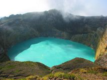 Turquoise lake Royalty Free Stock Image
