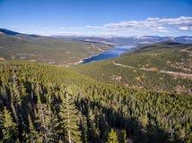 Turquoise Lake aerial view Royalty Free Stock Photos