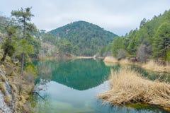 Turquoise lake Stock Photography
