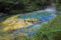 Turquoise lake Royalty Free Stock Photo