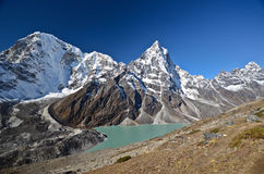Turquoise Lake in the Everest Stock Photography