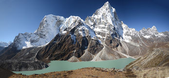 Turquoise Lake in the Everest Royalty Free Stock Photography
