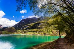 Turquoise lake in the mountains. Royalty Free Stock Photography