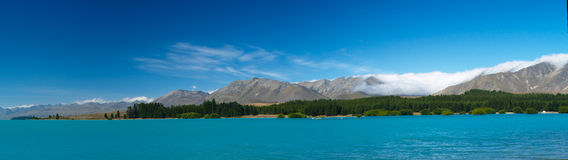 Turquoise lake in new zealand Stock Images
