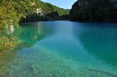 Turquoise lake in Plitvice, Croatia Stock Image