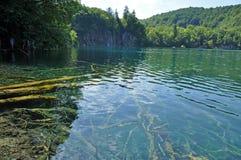 Turquoise lake in Plitvice, Croatia Stock Images