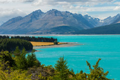 Turquoise Lake Pukaki Royalty Free Stock Photos