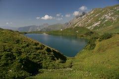 Turquoise lake - Schrecksee Stock Photo