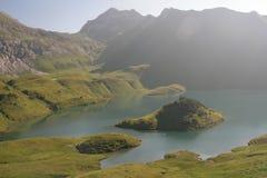 Turquoise lake - Schrecksee Stock Image