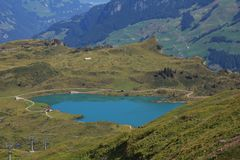 Turquoise lake Trubsee Royalty Free Stock Photos