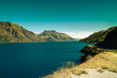 Turquoise landscape in New Zealand Royalty Free Stock Image