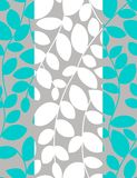 Turquoise leaves. Floral seamless pattern with styled leaves Royalty Free Stock Photo