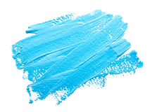 Turquoise Light Blue Strokes Of The Paint Brush Isolated Stock Photo
