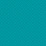 Turquoise Linear Weaved Seamless Pattern. Royalty Free Stock Image