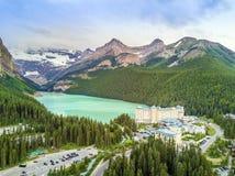 Turquoise Louise Lake in Banff National Park, Alberta, Canada Stock Photo