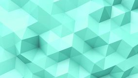 Turquoise low poly texture stock video footage