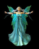 Turquoise Magic. A magical fairy in a turquoise dress Stock Images