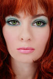 Turquoise makeup Royalty Free Stock Images