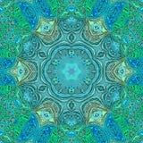Turquoise mandala for lifestyle design. Ethnic style. Turquoise mandala for lifestyle design. Ethnic stock illustration