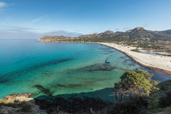 Turquoise Mediterranean at Ostriconi beach in Corsica Stock Photo