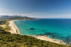 Turquoise Mediterranean sea at Losari beach in Corsica Royalty Free Stock Photography