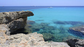 Turquoise Mediterranean sea Stock Photo