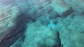 Turquoise mediterranean sea water stock video