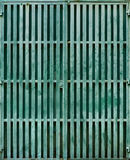 Turquoise Metal Gate Royalty Free Stock Images