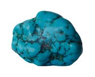 Turquoise mineral isolated Stock Photo