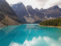 Turquoise Moraine Lake in the Summer Stock Photo