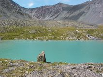 Turquoise mountain lake Royalty Free Stock Images