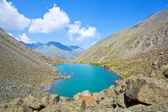 Turquoise mountain lake Royalty Free Stock Photo