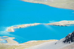 Turquoise mountain lake in Andes Royalty Free Stock Image
