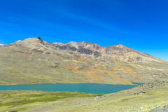 Turquoise mountain lake in Andes Stock Photos