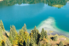 Turquoise mountain lake Freibergsee Royalty Free Stock Images