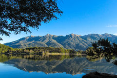Turquoise mountain lake with reflection Royalty Free Stock Image