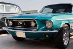 Turquoise Mustang Royalty Free Stock Photo