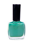 Turquoise nail polish. Isolated on a white background Stock Photography