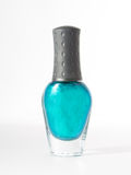 Turquoise nail Polish isolated on white background Stock Photography