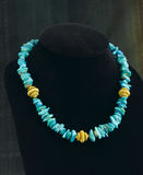Turquoise necklace Stock Photo