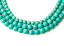 Turquoise necklace Royalty Free Stock Image