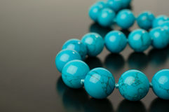 Turquoise necklace Royalty Free Stock Photography