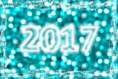 2017 Turquoise New Year. A beautiful 2017 background for your New Year Celebrations Royalty Free Stock Photos
