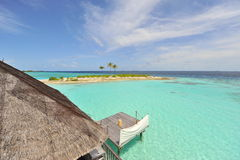 Turquoise ocean of Maldives Stock Images