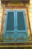 Turquoise old Egyptian gate Royalty Free Stock Photos