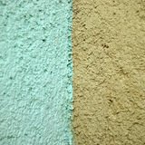 Turquoise and orange wall Stock Photos