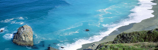 Turquoise Pacific waters Royalty Free Stock Images