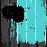 Turquoise painted black wood background Royalty Free Stock Photo